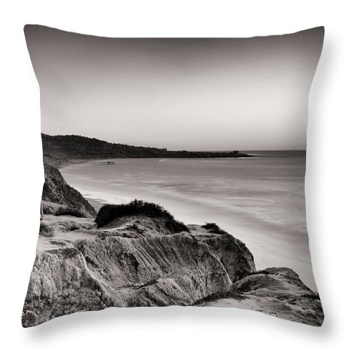 La Jolla Throw Pillow featuring the photograph La Jolla From Torrey Pines by Tanya Harrison