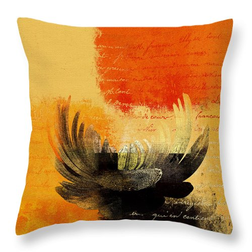 Daisy Throw Pillow featuring the digital art La Marguerite - 194191203-ro01t by Variance Collections