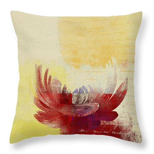 Daisy Throw Pillow featuring the digital art La Marguerite - 194191203-ro06tc by Variance Collections