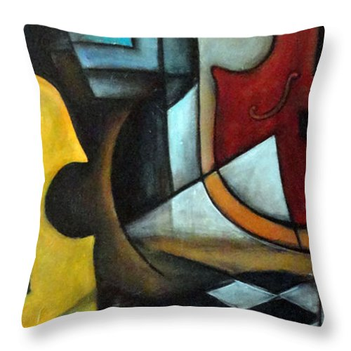 Abstract Throw Pillow featuring the painting La Musique 1 by Valerie Vescovi