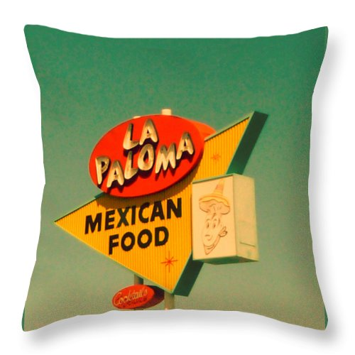 Roadside Throw Pillow featuring the photograph La Paloma by Candice Riddle