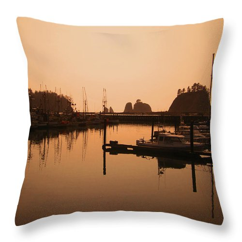 Landscapes Throw Pillow featuring the photograph La Push In The Afternoon by Kym Backland