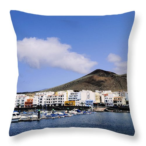 Harbor Throw Pillow featuring the photograph La Restinga by Karol Kozlowski