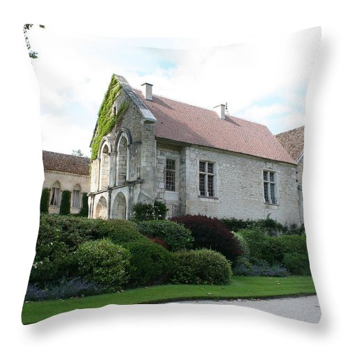 Abbey Throw Pillow featuring the photograph L'abbaye De Fontenay by Christiane Schulze Art And Photography