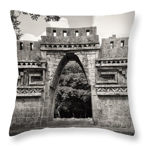 Labná Throw Pillow featuring the photograph Labna Famous Arch by For Ninety One Days
