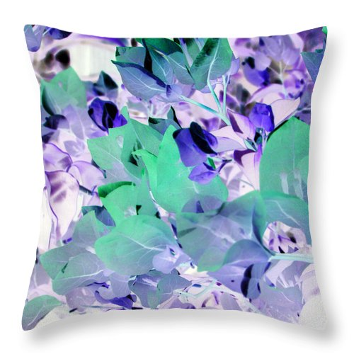Pink Throw Pillow featuring the photograph Lace by Debi Singer