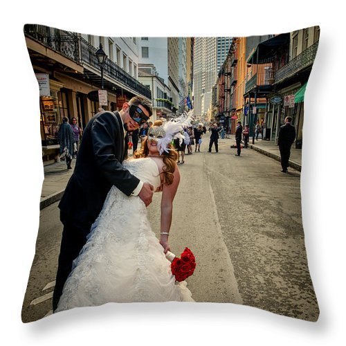 Royal Throw Pillow featuring the photograph Lacey And Adam Wedding 2 by Kathleen K Parker