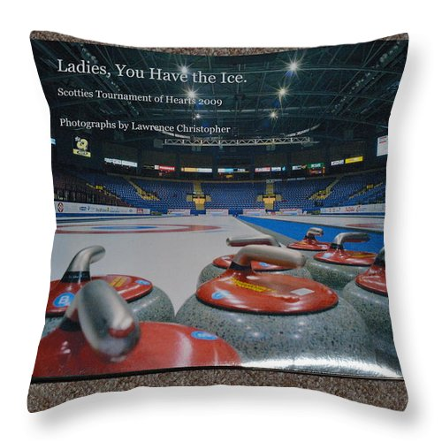 Book Throw Pillow featuring the photograph Ladies You Have The Ice - The 2009 Scotties Tournament Of Hearts by Lawrence Christopher