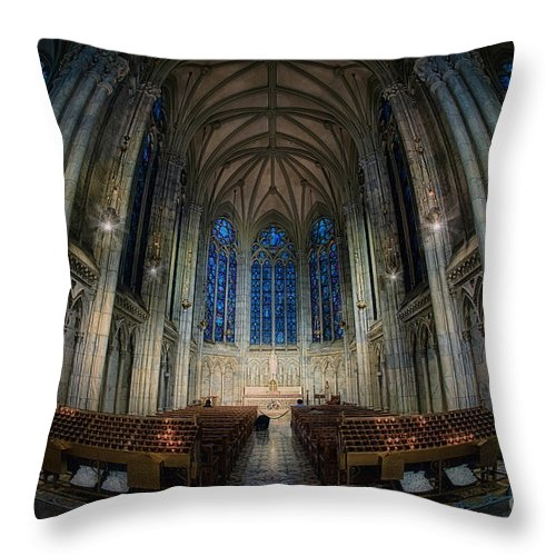 Hdr Throw Pillow featuring the photograph Lady Chapel At St Patrick's Catheral by Jerry Fornarotto