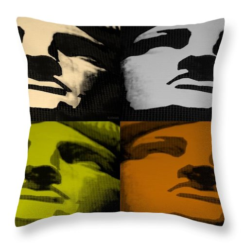 Statue Of Liberty Throw Pillow featuring the photograph Lady Liberty In Quad Colors by Rob Hans