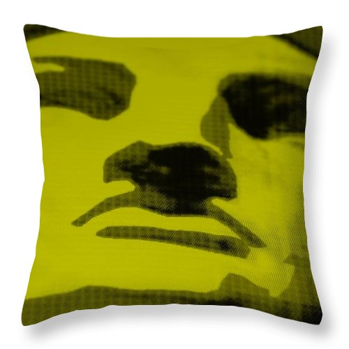 Statue Of Liberty Throw Pillow featuring the photograph Lady Liberty In Yellow by Rob Hans