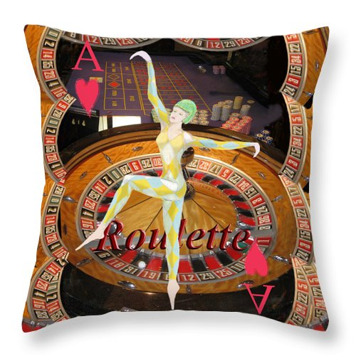 Casino Throw Pillow featuring the photograph Lady Luck by Tom Conway