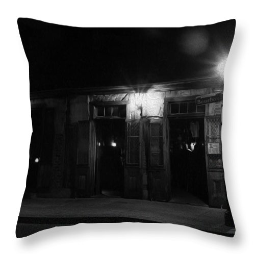 Lafitte's Blacksmith Shop Throw Pillow featuring the photograph Lafitte's Blacksmith Shop by Greg and Chrystal Mimbs