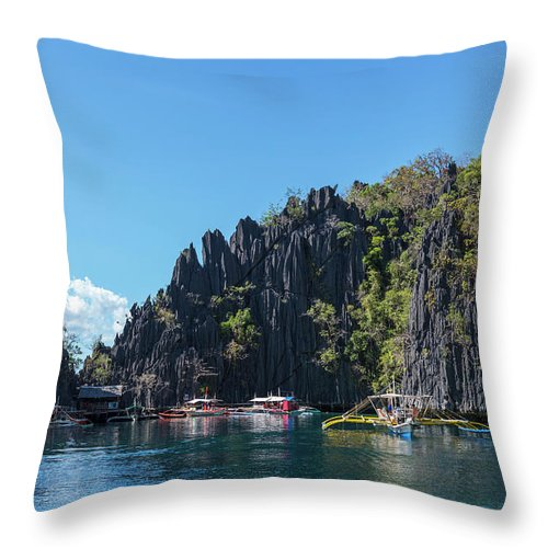 Outdoors Throw Pillow featuring the photograph Lagoon, Coron, Palawan, Phillippines by John Harper