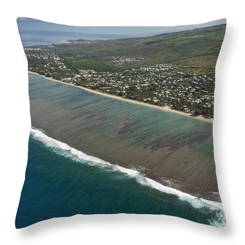 Reunion Island Throw Pillow featuring the photograph Lagoon - St Paul - Reunion Island by Travel Photographer Specialized In Asia * Sylvain Brajeul