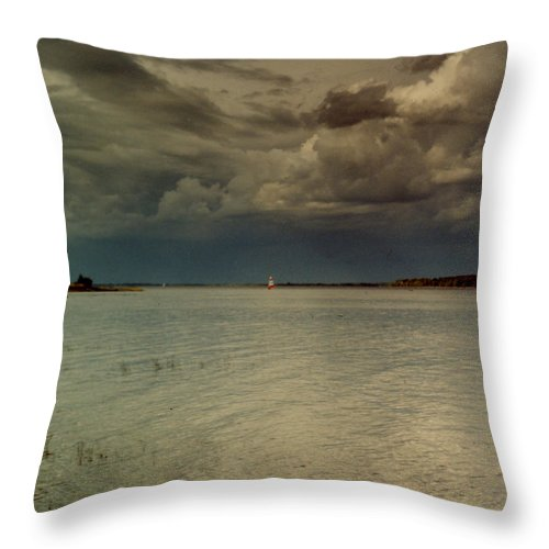 Lake Throw Pillow featuring the photograph Lake Champlain by Nancie Johnson