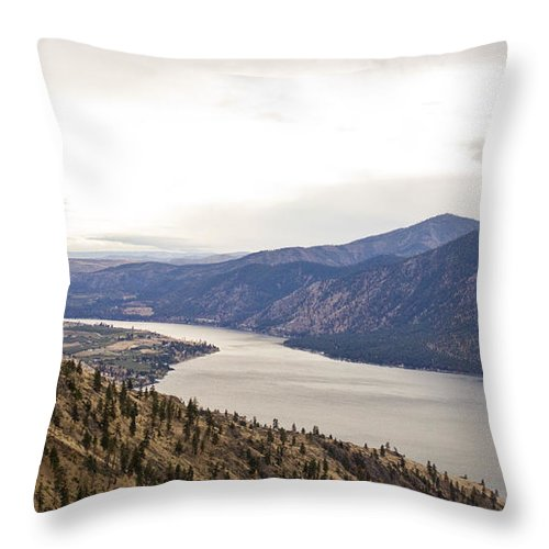 Lake Throw Pillow featuring the photograph Lake Chelan From Above by Andrea Goodrich