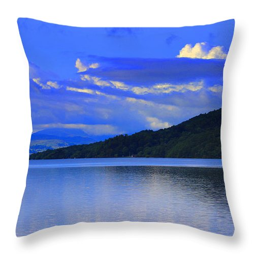 Lakes Throw Pillow featuring the photograph Lake District by Martin Newman