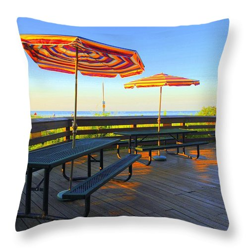 Lake Throw Pillow featuring the photograph Lake Erie Tropics by Frozen in Time Fine Art Photography