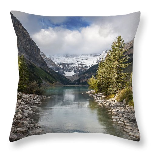 Lake Louise Throw Pillow featuring the photograph Lake Louise by Cenwyn Jones