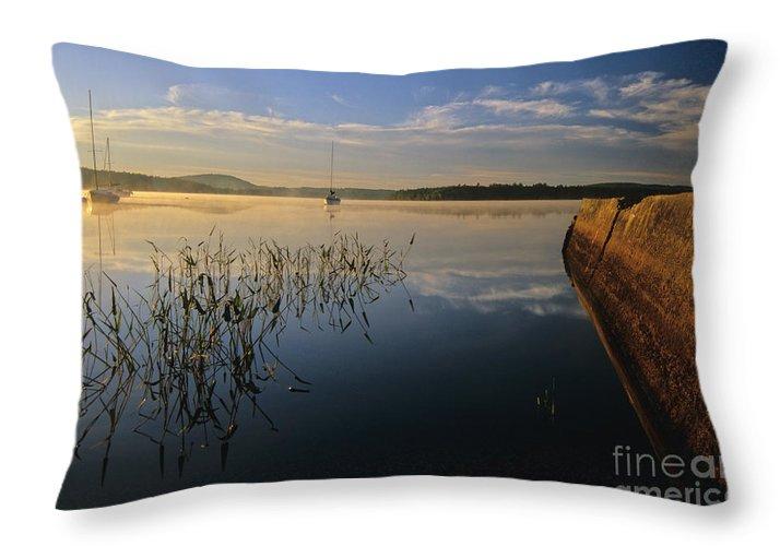 Lake Massabesic Throw Pillow featuring the photograph Lake Massabesic - Auburn New Hampshire by Erin Paul Donovan