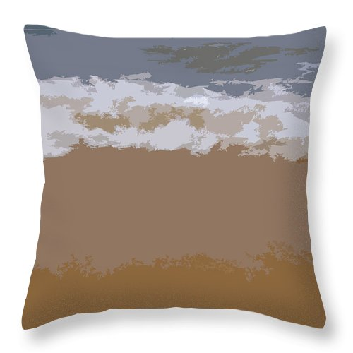 Beach Throw Pillow featuring the photograph Lake Michigan Shoreline by Michelle Calkins