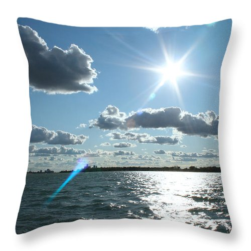 Lake St. Clair Throw Pillow featuring the photograph Lake St. Clair Sunset by Stephanie Kriza