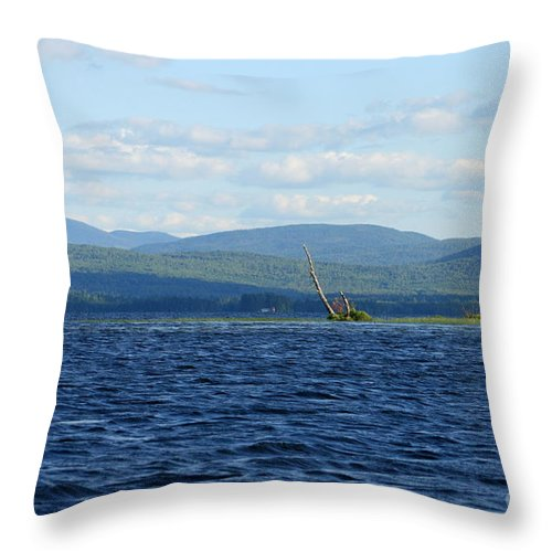 Lake Throw Pillow featuring the photograph Lake Umbagog Choppy Waters by Neal Eslinger