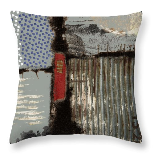 Collage Throw Pillow featuring the photograph Lake View by Carol Leigh