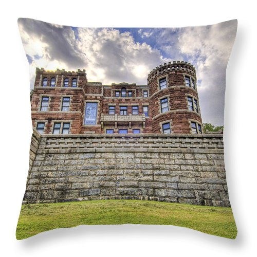 Castle Throw Pillow featuring the photograph Lambert Castle by Anthony Sacco