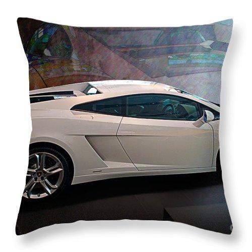 Lamborghini Throw Pillow featuring the photograph Lamborghini Gallardo Lp550-2 Side View by Stuart Row