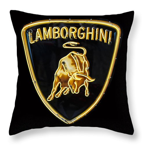 Lamborghini Neon Sign Throw Pillow For Sale By Dennis Hedberg