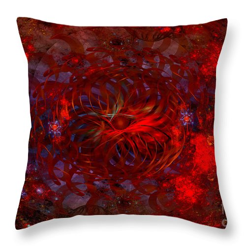 Fractal Throw Pillow featuring the digital art Lamp Shade by Melissa Messick