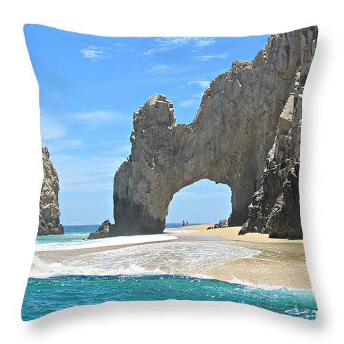 Beach Throw Pillow featuring the photograph Lands End by Marilyn Wilson