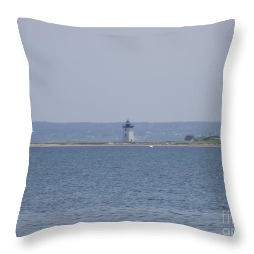Provincetown Throw Pillow featuring the photograph Land's End by Michelle Welles