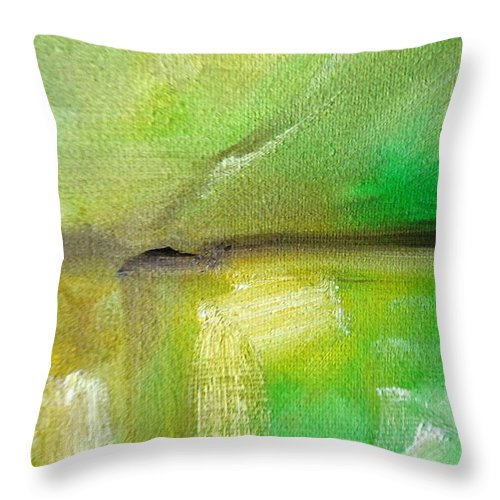 Paintings By Lyle Throw Pillow featuring the painting Landscape 1 by Lord Frederick Lyle Morris - Disabled Veteran