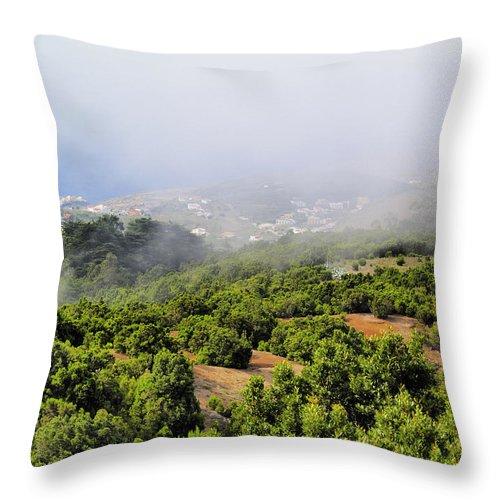 Hierro Throw Pillow featuring the photograph Landscape by Karol Kozlowski