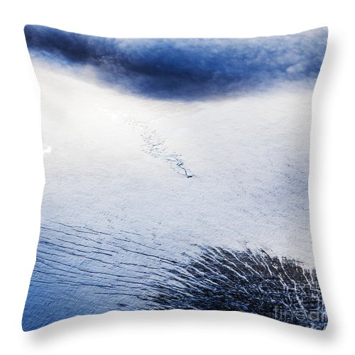 Abstract Photography Throw Pillow featuring the photograph Langjokull by Gunnar Orn Arnason
