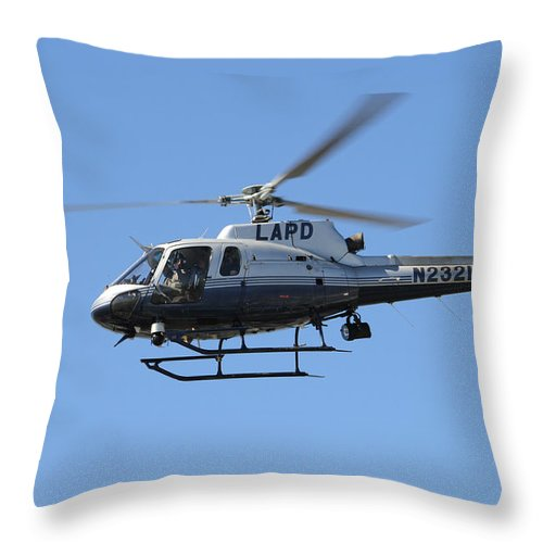 Lapd Throw Pillow featuring the photograph Lapd In Flight by Shoal Hollingsworth