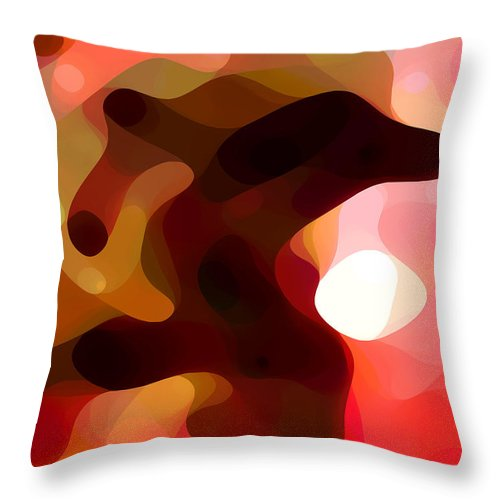 Bold Throw Pillow featuring the painting Las Tunas by Amy Vangsgard