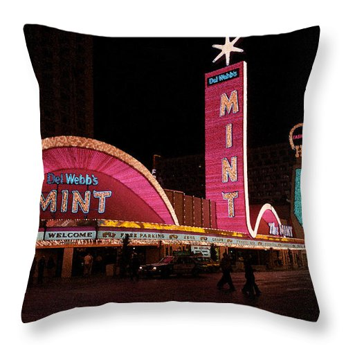 America Throw Pillow featuring the photograph Las Vegas With Watercolor Effect by Frank Romeo