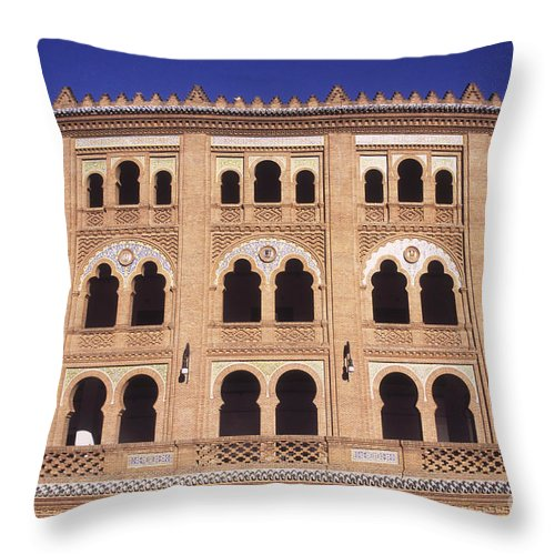 Spain Throw Pillow featuring the photograph Las Ventas Bullring Madrid by James Brunker