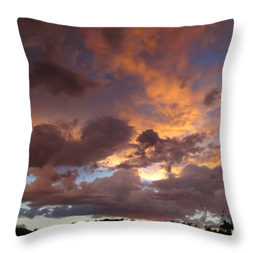 Sunset Throw Pillow featuring the photograph Last Hurrah by Fred Wilson