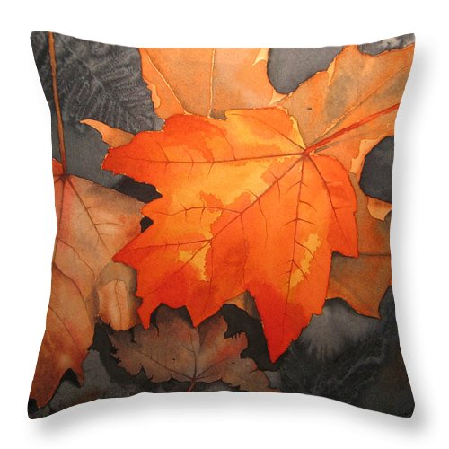 Fall Throw Pillow featuring the painting Last Out by Richard Rooker