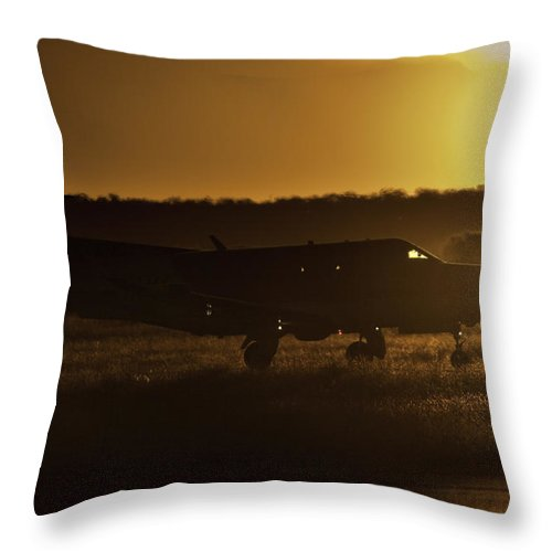Pilatus Pc 12. Golden Eagle Throw Pillow featuring the photograph Late Afternoon Mercy by Paul Job
