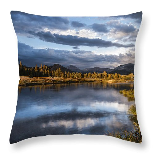 California Throw Pillow featuring the photograph Late Afternoon On The Tuolumne River by Cat Connor