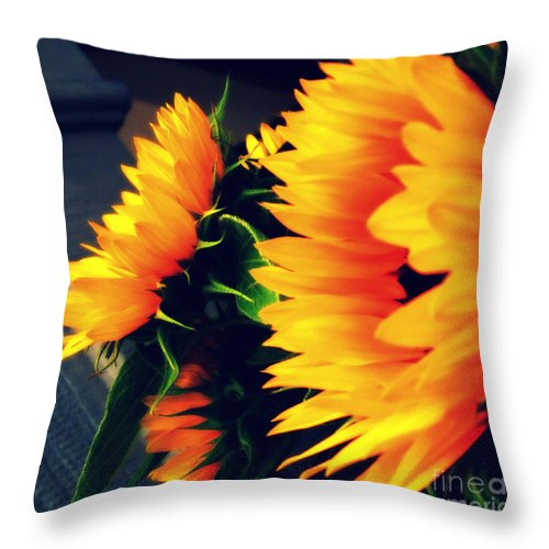 Late Summer Greetings Throw Pillow featuring the photograph Late Summer Greetings by Susanne Van Hulst