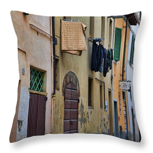 Laundry Throw Pillow featuring the photograph Laundry Citta Di Castello by Hugh Smith