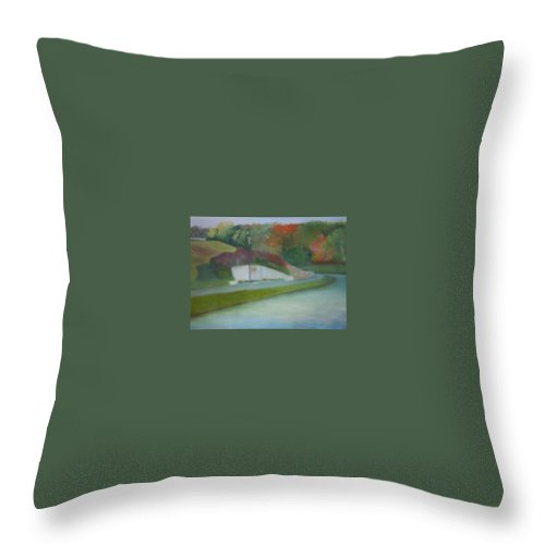 Park Throw Pillow featuring the painting Laurel Acres by Sheila Mashaw