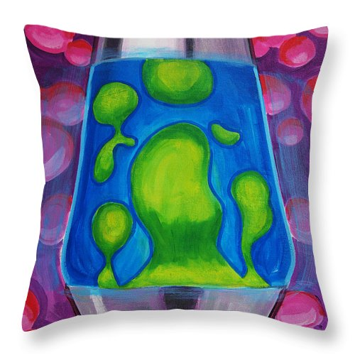 Lava Lamp Throw Pillow featuring the painting Lava Lamp by Tommy Midyette